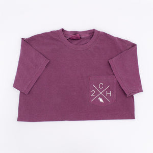 Two Chicks Homes Pocket Tee - Berry
