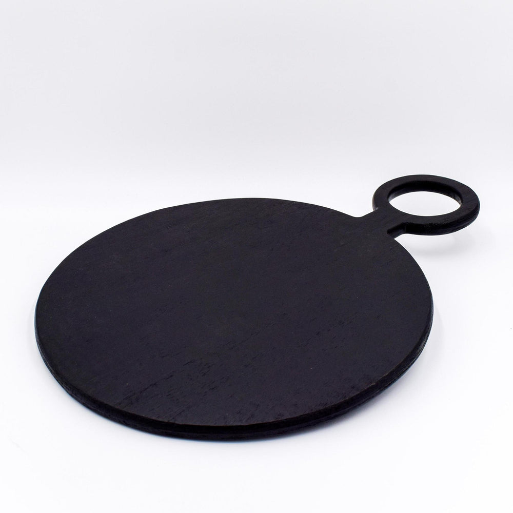 Black Mango Wood Round Board Medium