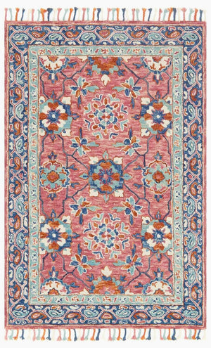 Load image into Gallery viewer, Zharah Rug - Rose/Denim