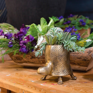 Tall Tommie Turtle Planter