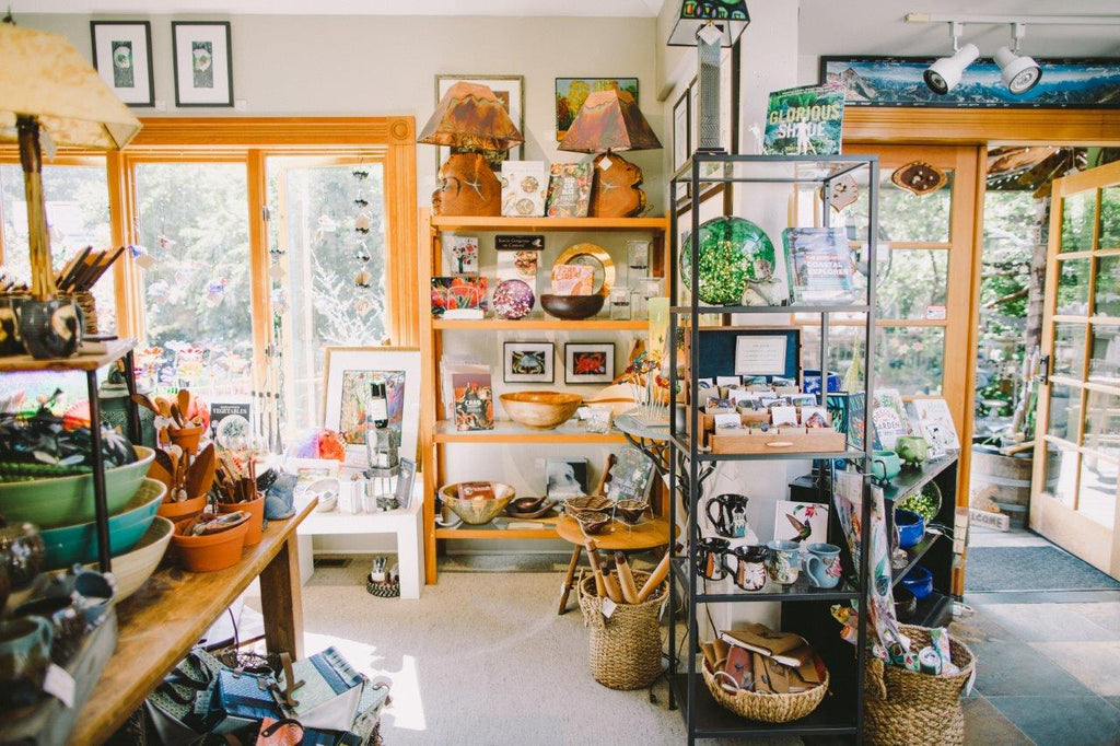 Chuckanut Bay Gallery and Sculpture Garden in Bellingham, WA. Art gallery, gift shop and tourist destination offering garden art, sculptures, handmade items, hand blown glass, home decor, water fountains, and more.