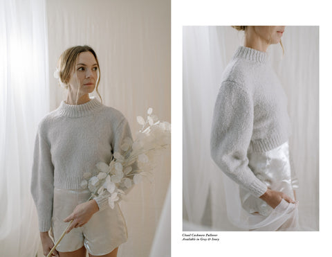 Esther Andrews Bridal hand knit sweater for fall brides
