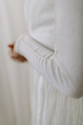 Boho Fringe Cashmere Wedding Shawl - detail view