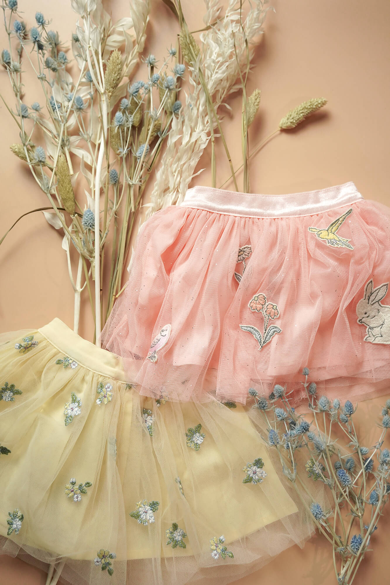 Baby Girls Embroidered Tulle