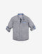 BOYS DOT DIAMOND PRINT LONG SLEEVES SHIRT - Gingersnaps