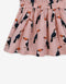 GIRLS TOUCAN PRINT  DROPWAIST DRESS WITH STRIPEY NECK RIBBING - Gingersnaps