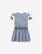 GIRLS DROPWAIST DRESS WITH CROCHET TRIMS - Gingersnaps