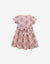 GIRLS INDIAN BLOCK PRINT WAISTED DRESS WITH SASH