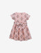 GIRLS INDIAN BLOCK PRINT WAISTED DRESS WITH SASH - Gingersnaps