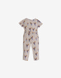GIRLS PRINTED JUMPSUIT WITH FRILLS, TIES AND TASSELS - Gingersnaps