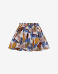 GIRLS PRINTED SKIRT WITH MULTICOLOR BRAIDED TIES AND TASSELS - Gingersnaps