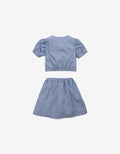 GIRLS CROP TOP AND SKIRT SET