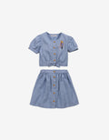 GIRLS CROP TOP AND SKIRT SET - Gingersnaps