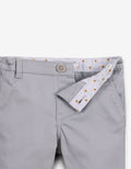 BABY BOYS GRAY CHINOS WITH STRIPEY TAPE TRIM