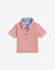 BABY BOYS PEACH COLLAR COMBI POLO - Gingersnaps