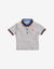 BABY BOYS TRICOLOR COLLAR POLO WITH CHILI EMBRO