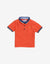 BABY BOYS TRICOLOR COLLAR POLO WITH LIGHTNING EMBRO - Gingersnaps
