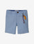BABY BOYS BLUE BERMUDA SHORTS WITH KEYCHAIN - Gingersnaps