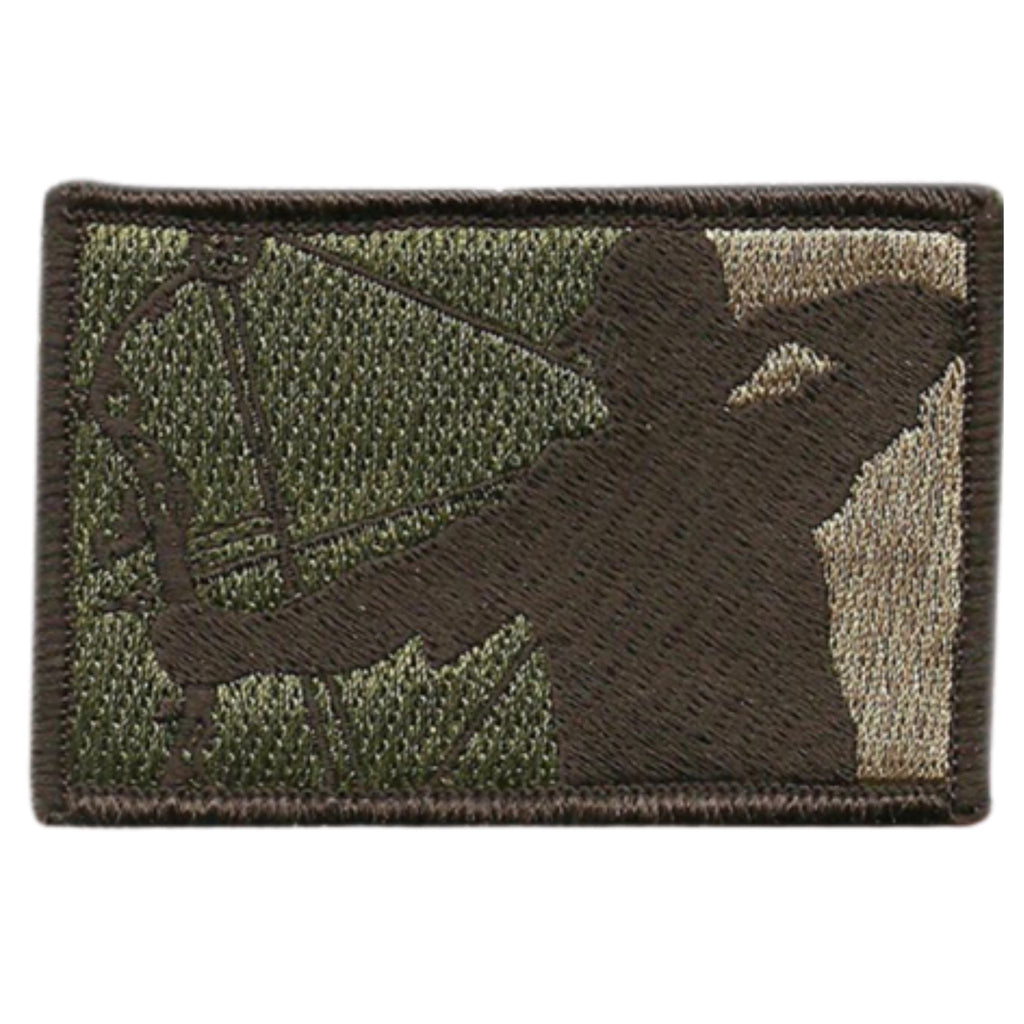"Bow Hunter Embroidered Patch, Color  Multitan, 2""x3"", Velcro® backing"