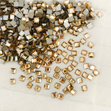 Swarovski® crystal - No Hotfix - Article 2400 - SQUARE - CRYSTAL GOLDEN SHADOW - 4 x 4 mm