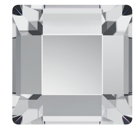 Swarovski Hotfix Crystal Clear Square Flat Backs Article 2400 4 x 4 mm