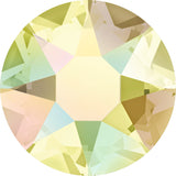 stock image of Swarovski Crystal Hotfix in Jonquil AB colour