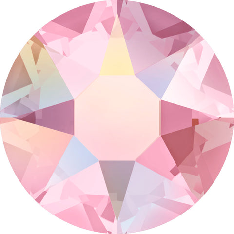 stock image of Swarovski Crystal Hotfix in Light Rose AB colour