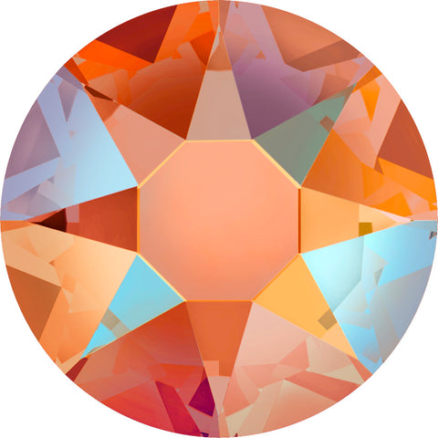 stock image of Tangerine Shimmer in Hotfix Swarovski Crystals