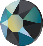 stock image of Swarovski Crystal Hotfix in Jet AB colour