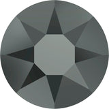 stock image of Swarovski Crystal Hotfix in Jet Hematite Dark Grey colour