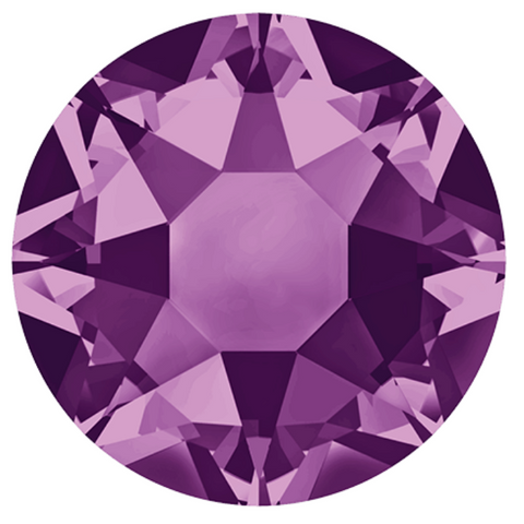stock photo of Swarovski article 2078 Hotfix crystals Amethyst colour