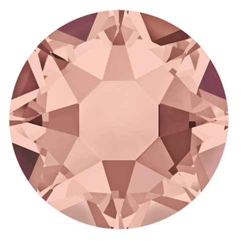 stock photo of Blush Rose coloured Hotfix crystals from Swarovski