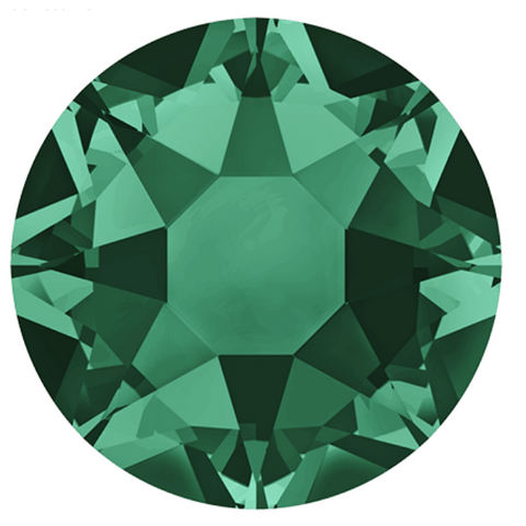 stock photo of Swarovski article 2078 Hotfix crystals Emerald Green colour