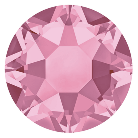 stock image of Light Rose coloured Hotfix crystals from Swarovski