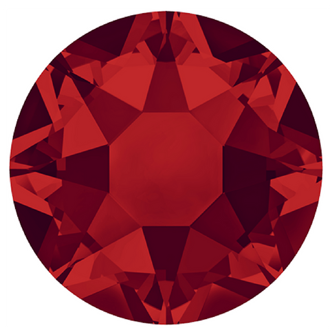 stock image of Swarovski Crystals Hotfix variety Light Siam Red colour