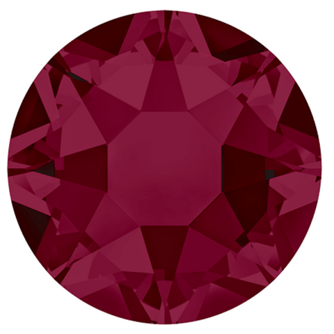 stock image of Swarovski Crystals Hotfix variety Ruby Red colour