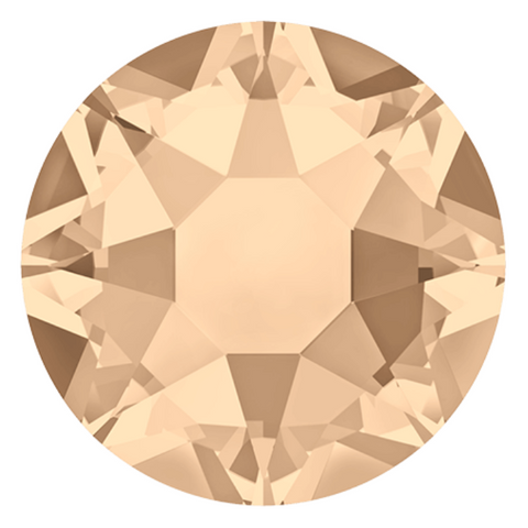 stock image of Silk cream coloured Hotfix crystals from Swarovski