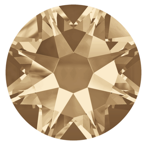 Swarovski simulated stock photo representation of Crystal Golden Shadow