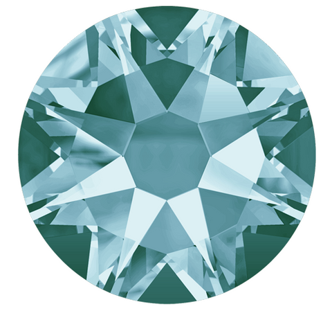 Swarovski Crystal - Hotfix - Article 2078 - XIRIUS Rose - Light Turquoise