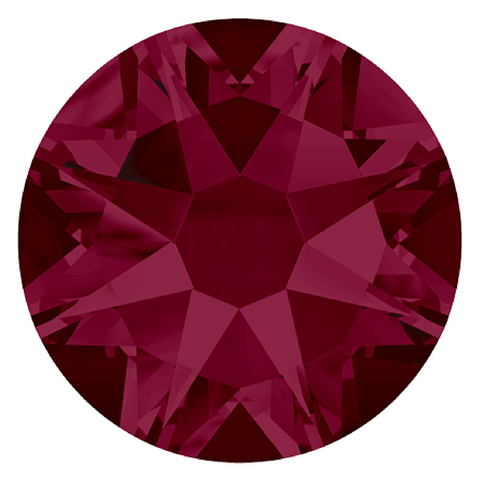 Swarovski® crystal - No Hotfix - Article 2088 - RUBY - 5 sizes available
