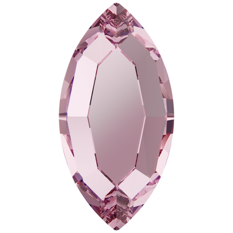 Swarovski® crystal - Hotfix - Article 2200 - NAVETTE - LIGHT ROSE - 8 x 4 mm