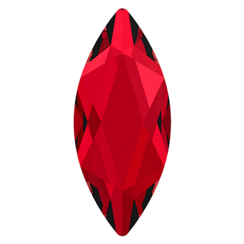 Swarovski® crystal - No Hotfix - Article 2201 - MARQUISE - SCARLET - 14 x 6 mm