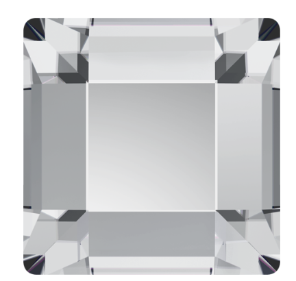 Swarovski No Hotfix Crystal Clear Square Flat Backs Article 2400 4 x 4 mm