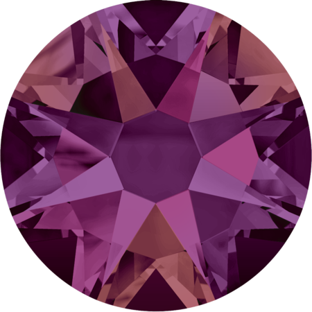 Crystals from Swarovski Crystal Volcano colour purple magenta mix in article 2088