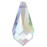 stock photo of Swarovski Crystal drop pendant in colour Crystal AB