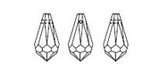 line drawing of Article 6000 dropped pendants from Swarovski Elements