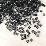 Swarovski® crystal - No Hotfix - Article 2400 - SQUARE - JET HEMATITE - 4 x 4 mm