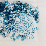Swarovski® crystal - No Hotfix - Article 2400 - SQUARE - AQUAMARINE - 4 x 4 mm