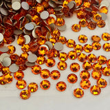 real photo of the colour Tangerine from Swarovski Crystals glue on range