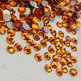 actual photo of colour Tangerine from Swarovski Crystals No Hotfix Xirius Rose range